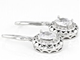 White Cubic Zirconia Rhodium Over Sterling Silver Earrings 2.50ctw