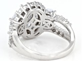 White Cubic Zirconia Rhodium Over Sterling Silver Ring 6.95ctw
