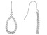 White Cubic Zirconia Rhodium Over Sterling Silver Dangle Earrings 2.48ctw