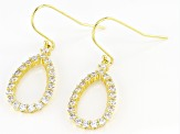 White Cubic Zirconia 18K Yellow Gold Over Sterling Silver Dangle Earrings 2.48ctw