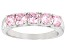 Pink Cubic Zirconia Rhodium Over Sterling Silver Ring 2.00ctw