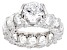White Cubic Zirconia Rhodium Over Sterling Silver Ring 11.41ctw