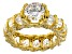 White Cubic Zirconia 18K Yellow Gold Over Sterling Silver Ring 11.41ctw