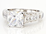 White Cubic Zirconia Rhodium Over Sterling Silver Ring 5.32ctw