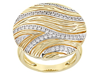 Picture of White Cubic Zirconia 18k Yellow Gold Over Sterling Silver Ring 0.66ctw