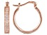 White Cubic Zirconia 18K Rose Gold Over Sterling Silver Hoop Earrings 3.90ctw