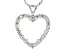White Cubic Zirconia Rhodium Over Sterling Silver Heart Pendant With Chain 1.65ctw