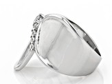 White Cubic Zirconia Rhodium Over Sterling Silver Ring 0.40ctw (0.24ctw DEW)