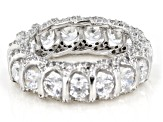 White Cubic Zirconia Rhodium Over Sterling Silver Eternity Band Ring 8.35ctw