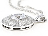 White Cubic Zirconia Rhodium Over Sterling Silver Pendant With Chain 2.45ctw