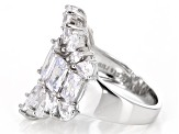 White Cubic Zirconia Rhodium Over Sterling Silver Ring 8.07ctw (3.22ctw DEW)