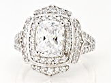 White Cubic Zirconia Rhodium Over Sterling Silver Ring 4.46ctw (3.42ctw DEW)