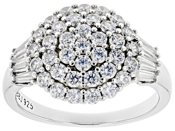 Picture of White Cubic Zirconia Rhodium Over Sterling Silver Ring 4.48ctw