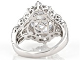 White Cubic Zirconia Rhodium Over Sterling Silver Ring 9.61ctw