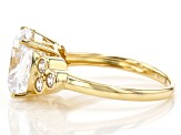 White Cubic Zirconia 18K Yellow Gold Over Sterling Silver Ring 8.62ctw