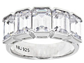 White Cubic Zirconia Rhodium Over Sterling Silver Ring 8.50ctw