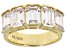 White Cubic Zirconia 18K Yellow Gold Over Sterling Silver Ring 8.50ctw