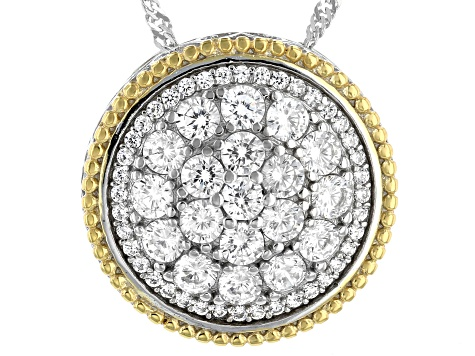White Cubic Zirconia Rhodium Over Sterling Silver Pendant With Chain 3.25ctw (1.72ctw DEW)