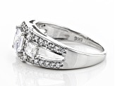 White Cubic Zirconia Rhodium Over Sterling Silver Ring 2.29ctw (1.47ctw DEW)