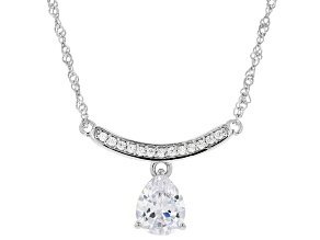 White Cubic Zirconia Rhodium Over Sterling Silver Necklace 4.28ctw (2.65ctw DEW)