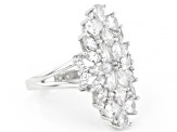 White Cubic Zirconia Rhodium Over Sterling Silver Ring 4.33ctw (3.49ctw DEW)