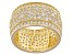 White Cubic Zirconia 18K Yellow Gold Over Sterling Silver Band Ring 6.56ctw