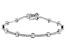 White Cubic Zirconia Rhodium Over Sterling Silver Tennis Bracelet 4.20ctw