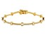 White Cubic Zirconia 18K Yellow Gold Over Sterling Silver Tennis Bracelet 4.20ctw