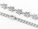 White Cubic Zirconia Rhodium Over Sterling Silver Star Bracelet 1.06ctw (0.58ctw DEW)