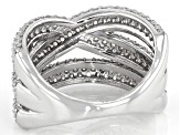 White Cubic Zirconia Rhodium Over Sterling Silver Ring 3.50ctw