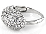 White Cubic Zirconia Rhodium Over Sterling Silver Ring 3.86ctw