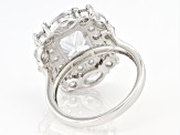 White Cubic Zirconia Rhodium Over Sterling Silver Ring 8.44ctw