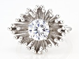 White Cubic Zirconia Rhodium Over Sterling Silver Ring 2.77ctw