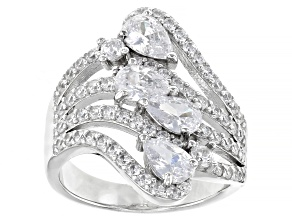 White Cubic Zirconia Rhodium Over Sterling Silver Ring 2.59ctw