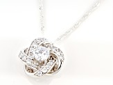 White Cubic Zirconia Rhodium Over Sterling Silver Pendant With Chain 2.55ctw