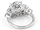 White Cubic Zirconia Rhodium Over Sterling Silver Ring 13.65ctw