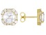 Asscher Cut White Cubic Zirconia 18k Yellow Gold Over Sterling Silver Earrings 7.17ctw