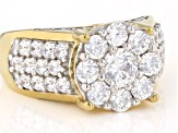 White Cubic Zirconia 18K Yellow Gold Over Sterling Silver Ring 4.03ctw
