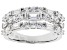White Cubic Zirconia Rhodium Over Sterling Silver Ring 3.17ctw