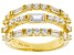 White Cubic Zirconia 18K Yellow Gold Over Sterling Silver Ring 3.17ctw