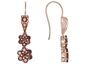 Mocha Cubic Zirconia 18K Rose Gold Over Sterling Silver Earrings 5.27ctw