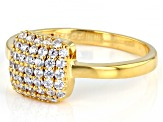 White Cubic Zirconia 18K Yellow Gold Over Sterling Silver Ring 0.80ctw