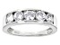 White Cubic Zirconia Rhodium Over Sterling Silver Band Ring 2.30ctw