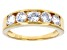 White Cubic Zirconia 18K Yellow Gold Over Sterling Silver Band Ring 2.30ctw