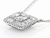 White Cubic Zirconia Rhodium Over Sterling Silver Necklace 2.63ctw