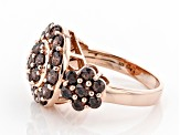 Mocha Cubic Zirconia 18K Rose Gold Over Sterling Silver Ring 4.96ctw