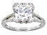 White Cubic Zirconia Rhodium Over Sterling Silver Ring 6.22ctw