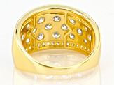White Cubic Zirconia 18K Yellow Gold Over Sterling Silver Ring 2.79ctw