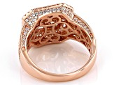 White Cubic Zirconia 18K Rose Gold Over Sterling Silver Asscher Cut Ring 6.31ctw