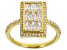 White Cubic Zirconia 18K Yellow Gold Over Sterling Silver Ring 2.22ctw